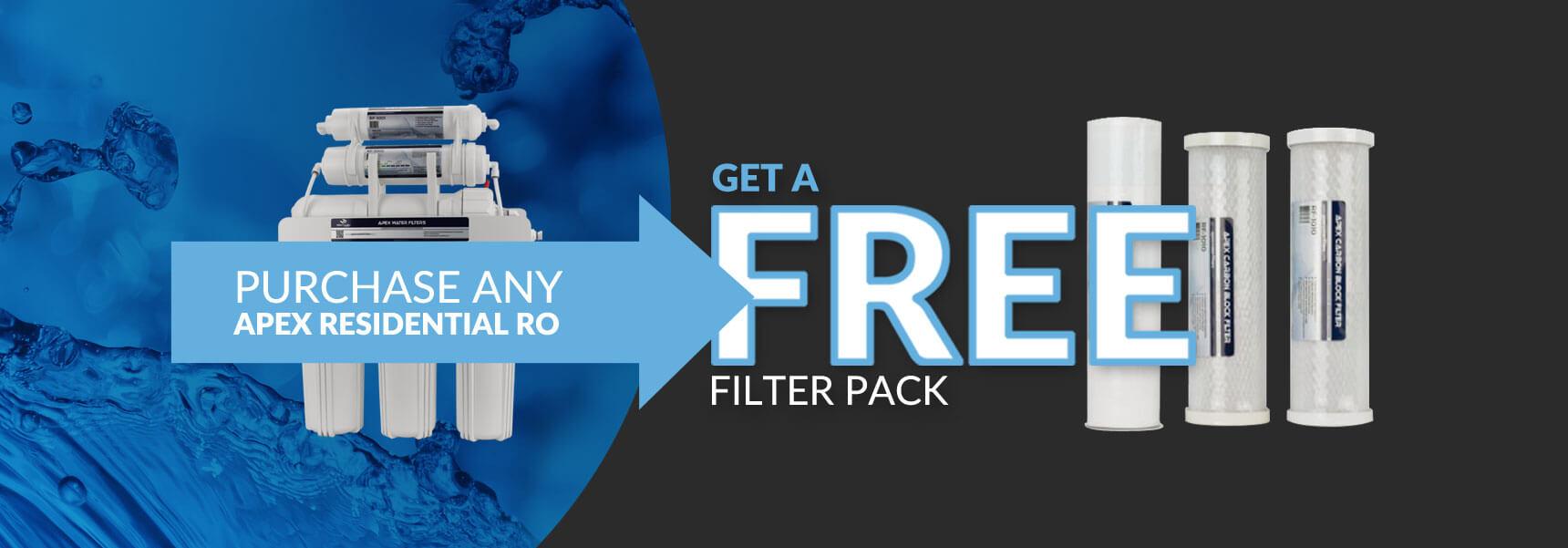 Apex RO Free filter pack