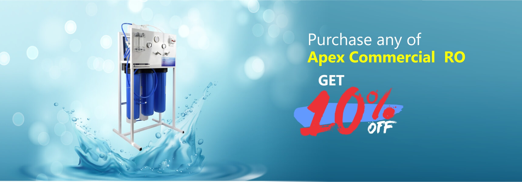 10% off on Apex Commercial Water Filter