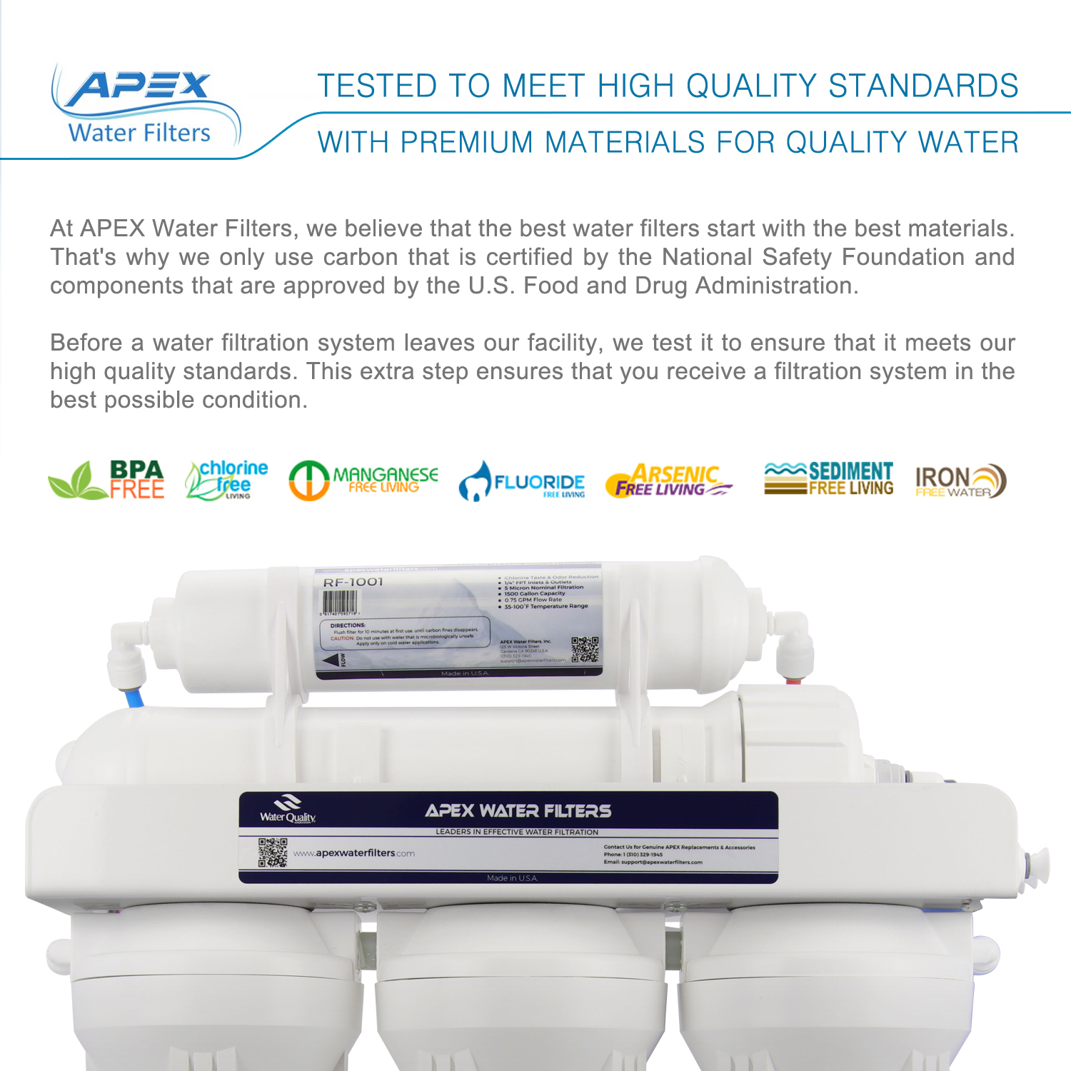 Apex Mr 5051 Under Sink Ro With Booster Pump