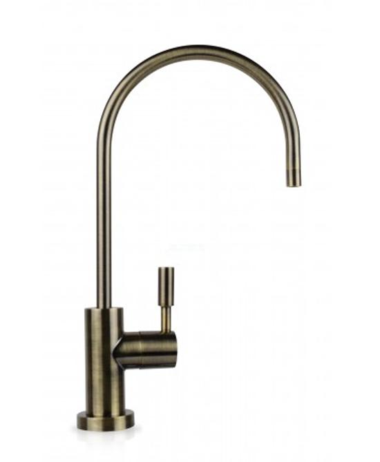 legant Ceramic Faucet Lead Free 3 Shank, Antique Brass RO Faucet(EC25)-1