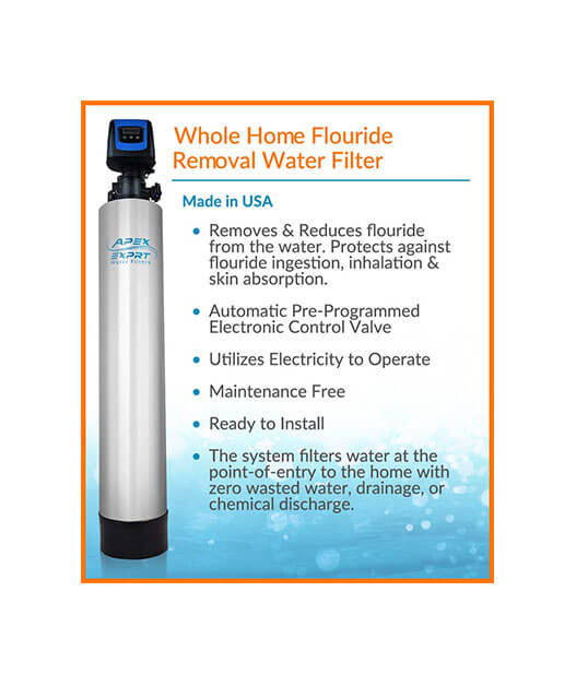 APEX Whole Home Fluoride Removal Water Filter